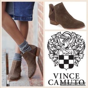 Vince Camuto the celena boot brown leather booties